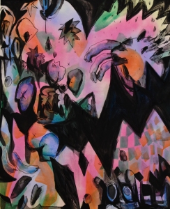 untitled  2019, acrylics oil on canvas, 160 x 140 cm