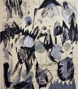 untitled  2020, acrylics oil on canvas, 160 x 140 cm