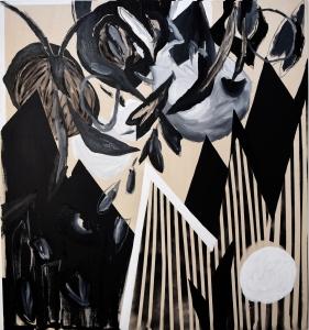 stranger in my own skin 2020, oil on canvas, 180 x 160 cm